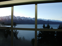 View from Queenstown Accommodation, New Zealand