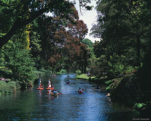 Punters on the Avon River in Christchurch New Zealand. Copyright: Hiroshi Nameda