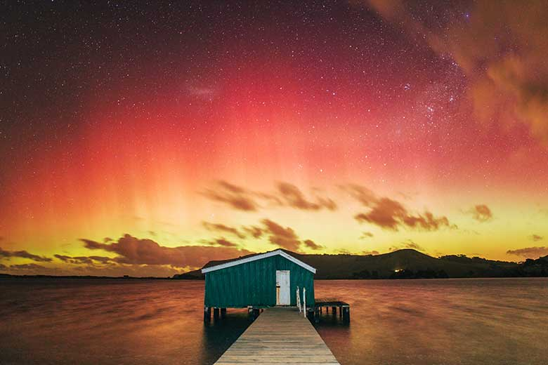 Sunset at Hoopers Inlet, Dunedin. Copyright: Chris Stephenson