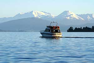 Boating on Lake Taupo, New Zealand. Copyright: Destination Lake Taupo