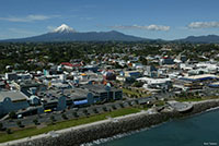 Aerial view of New Plymouth, New Zealand. Copyright: Rob Tucker.