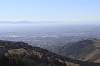 View of Christchurch New Zealand from the top of the Port Hills
